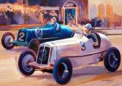 Prince Bira's ERA at the 1936 Limerick Grand Prix -Greetings Card by Debra Wenlock