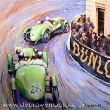 Ards TT Alvis Pair, acrylic painting by Debra Wenlock