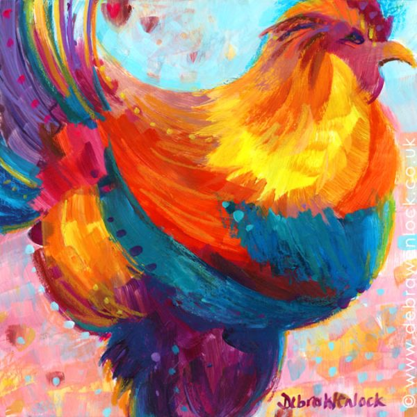 Bootsy the Rooster Painting by Debra Wenlock