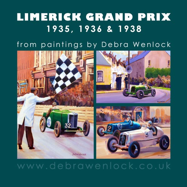Limerick Grand Prix Greetings Cards by Debra Wenlock