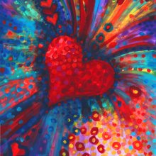 My colour-bursting Heart - Debra Wenlock