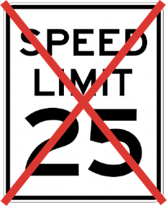 speed over 25 km/h