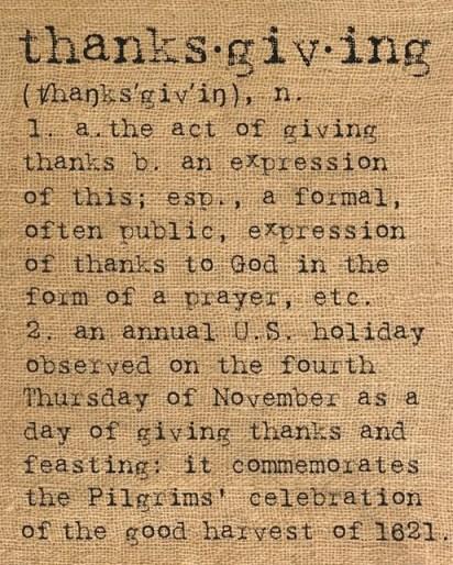 ThanksgivingDefinition