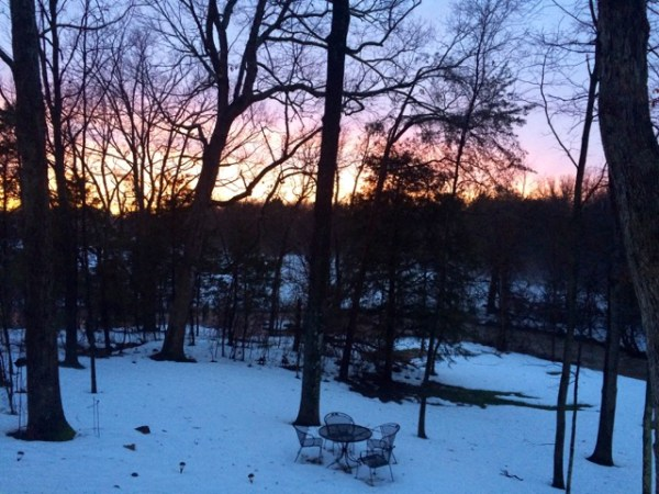 SunsetTableInSnow