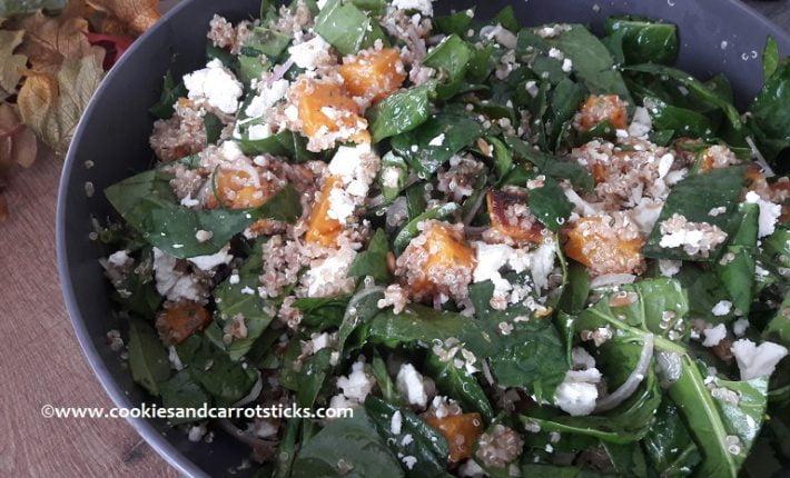 Pompoen quinoasalade Cookies & carrotsticks