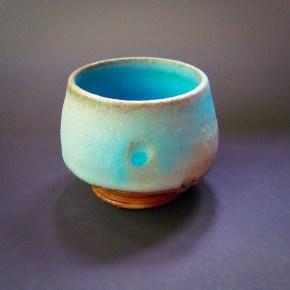 Tiny wood/salt teabowl, 25