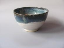 Stoneware serving bowl, layered glazes, 40