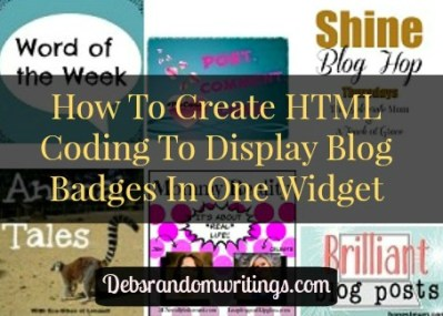 How To Create Simple HTML Coding To Display Blog Badges Neatly In A Sidebar