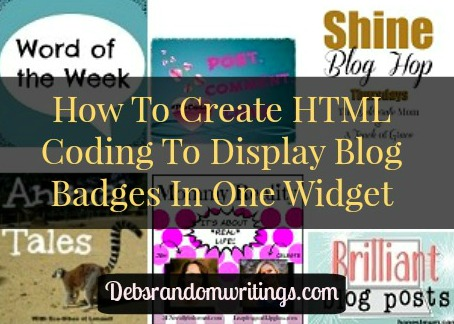 simple HTML Coding To Display Blog Badges Neatly In A Sidebar