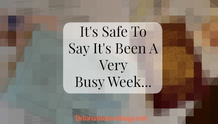 Busy week
