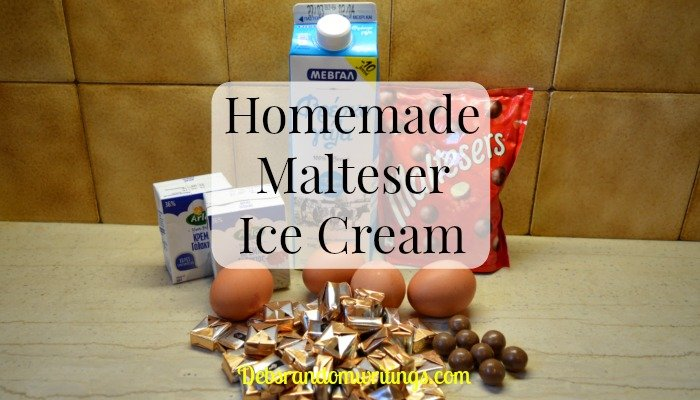 homemade Malteser ice cream