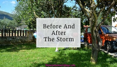 before and after the strom