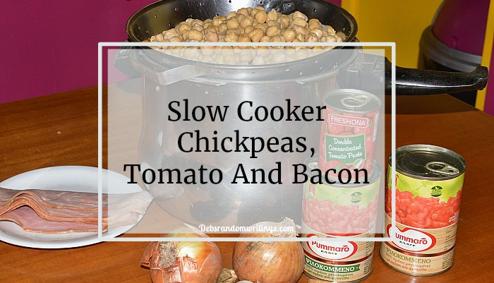 slowcooker, chickpea, tomato and bacon recipe