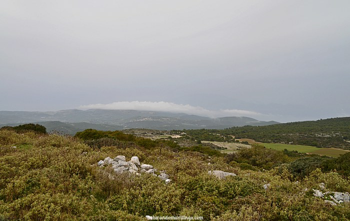 Vrachionas, the highest point on the island.