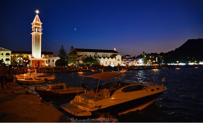 Zakynthos town at night