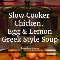 Slow Cooker Chicken, Egg And Lemon Soup (Greek-Style)