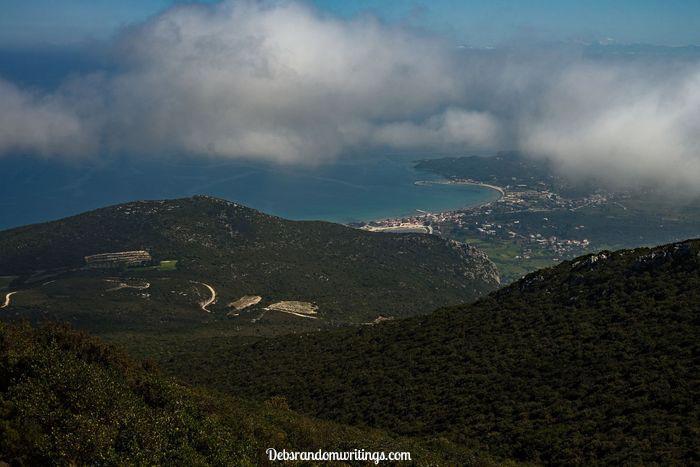 Alykes and Alykanas viewed from the mountains above Katastari.