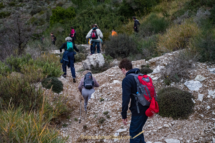 The hike up Skopos from the Kalamaki side is a challenge and not to be undertaken if you aren't relatively fit.