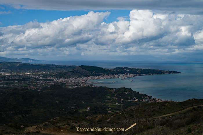 The view from Skopos across Zakynthos town and beyond.