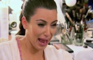 Kim Kardashion crying