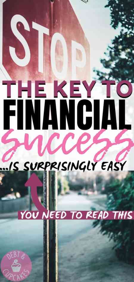 The key to financial success is saying NO