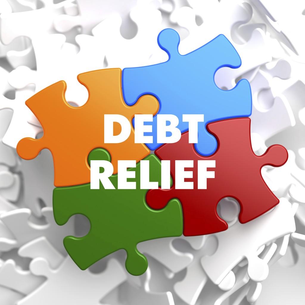 Debt Relief On Multicolor Puzzle