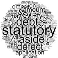 Setting Aside Statutory Demand – Defect in Demand