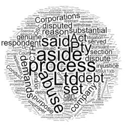 Abuse of Process – Statutory Demand
