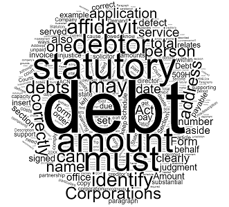 Draft a Statutory Demand - Form 509H