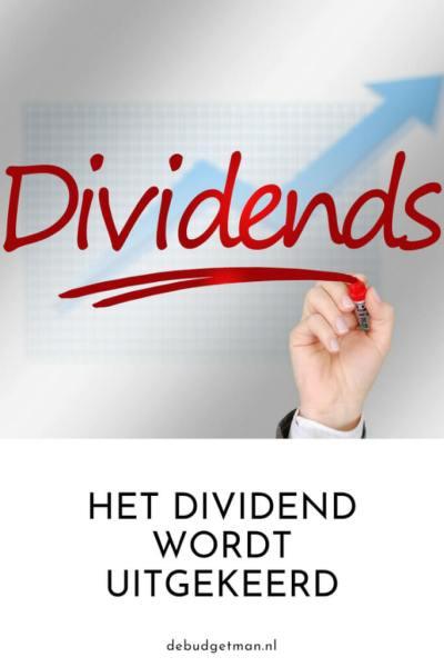 Het dividend wordt uitgekeerd; debudgetman.nl