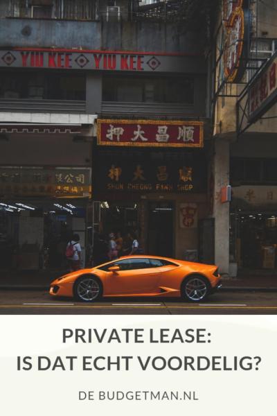Private lease, is dat voordelig? DeBudgetman.nl