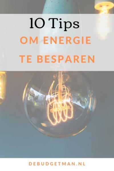 10 tips om energie te besparen #DeBudgetman