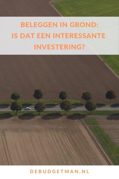 Beleggen in grond: Een interessante investering? #DeBudgetman