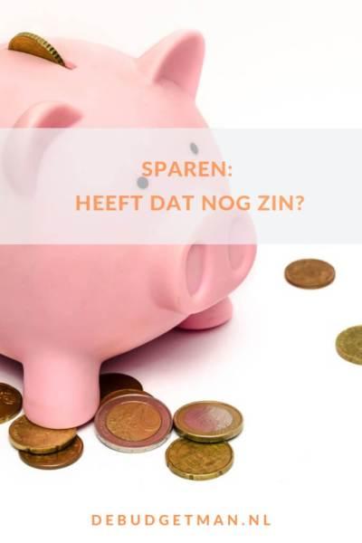 Sparen: heeft dat nog zin? #DeBudgetman