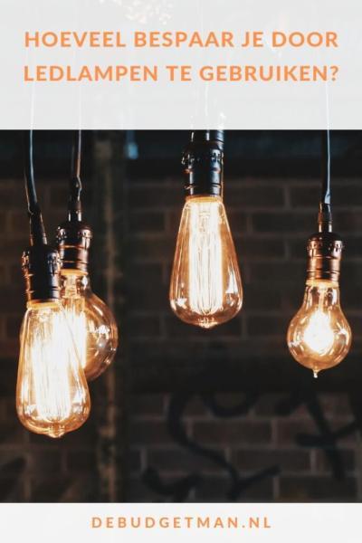 Hoeveel bespaar je door ledlampen #besparen #geld #DeBudgetman