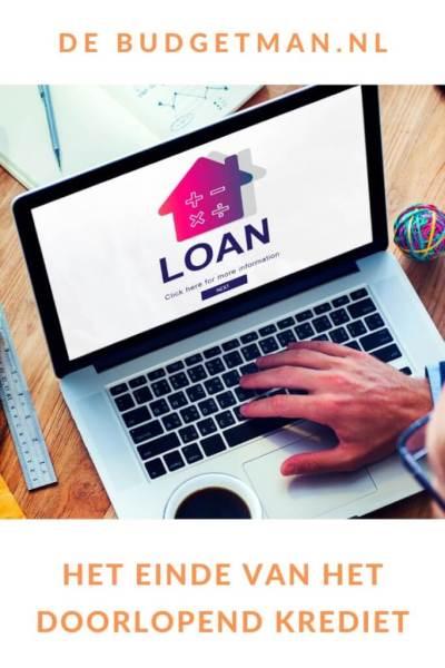 Het einde van het doorlopend krediet #lenen #budget #schulden #DeBudgetman