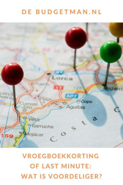 Vroegboekkorting of last minute: wat is voordeliger? #reizen #vakantie #travel #5opreis #DeBudgetman