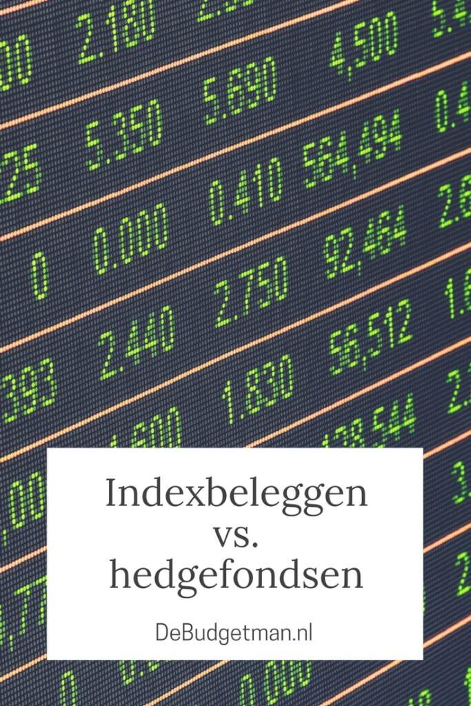 Indexbeleggen vs. hedgefondsen; DeBudgetman.nl