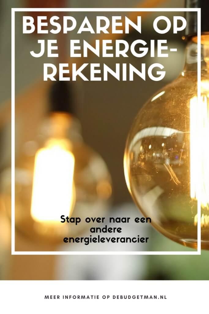 besparen energierekening energieleverancier