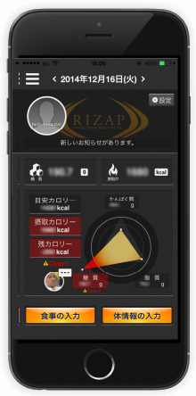 ライザップのアプリ