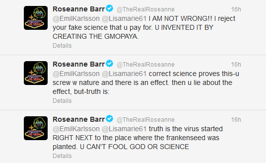Roseanne has a meltdown