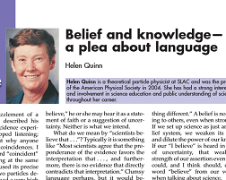 Belief and knowledge - a plea about language
