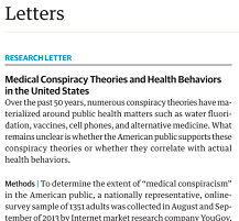 Medical conspiracy theories
