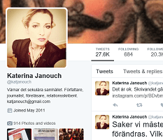 Katerina Janouch Twitter Page