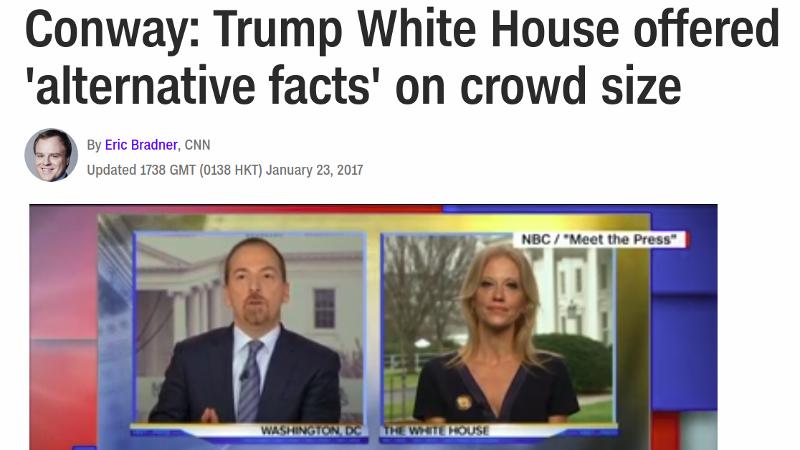 Alternative facts are bullshit
