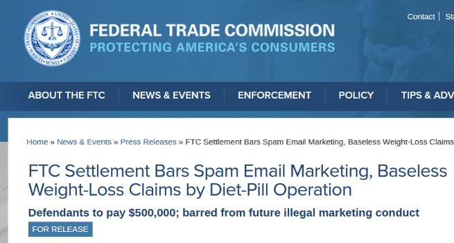 Ftc Shuts Down Fake Weight Loss Scam And Imposes 1 3 Million Usd