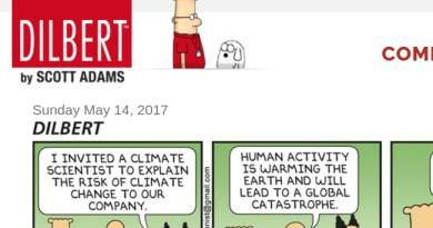 Dilbert Cartoonist Scott Adams Still Fails Basic Climate Science