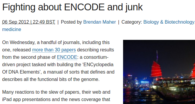 encode and junk