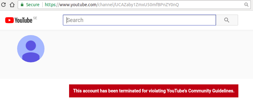 Sorry, that banned from youtube