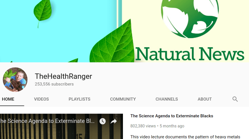 92c01456113e24 Natural News Back on YouTube After Ban
